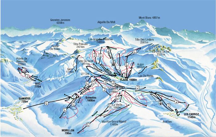 Ski map